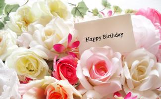 従業員の奥様・ご主人様の誕生日に花束が届きます。